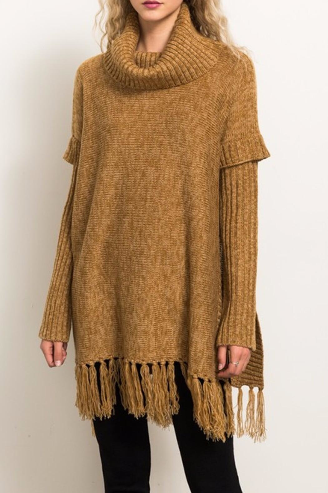 Hem & Thread Sweater Poncho - Main Image
