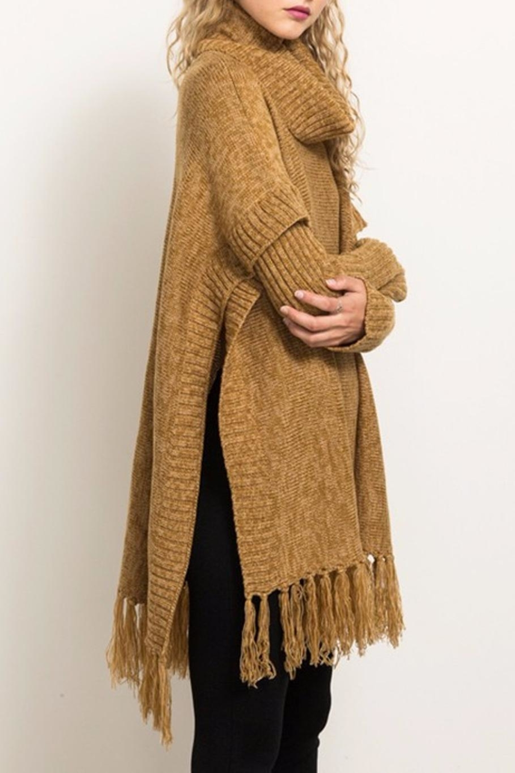 Hem & Thread Sweater Poncho - Front Full Image