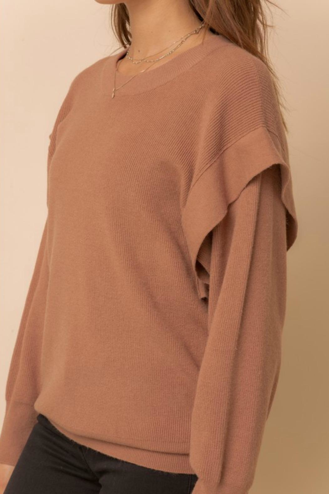 Hem & Thread Taylor Pullover Sweater - Back Cropped Image