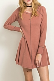 Hem & Thread Terracota Sweatshirt Dress - Product Mini Image
