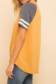 Hem & Thread Tie Front Tee - Back cropped