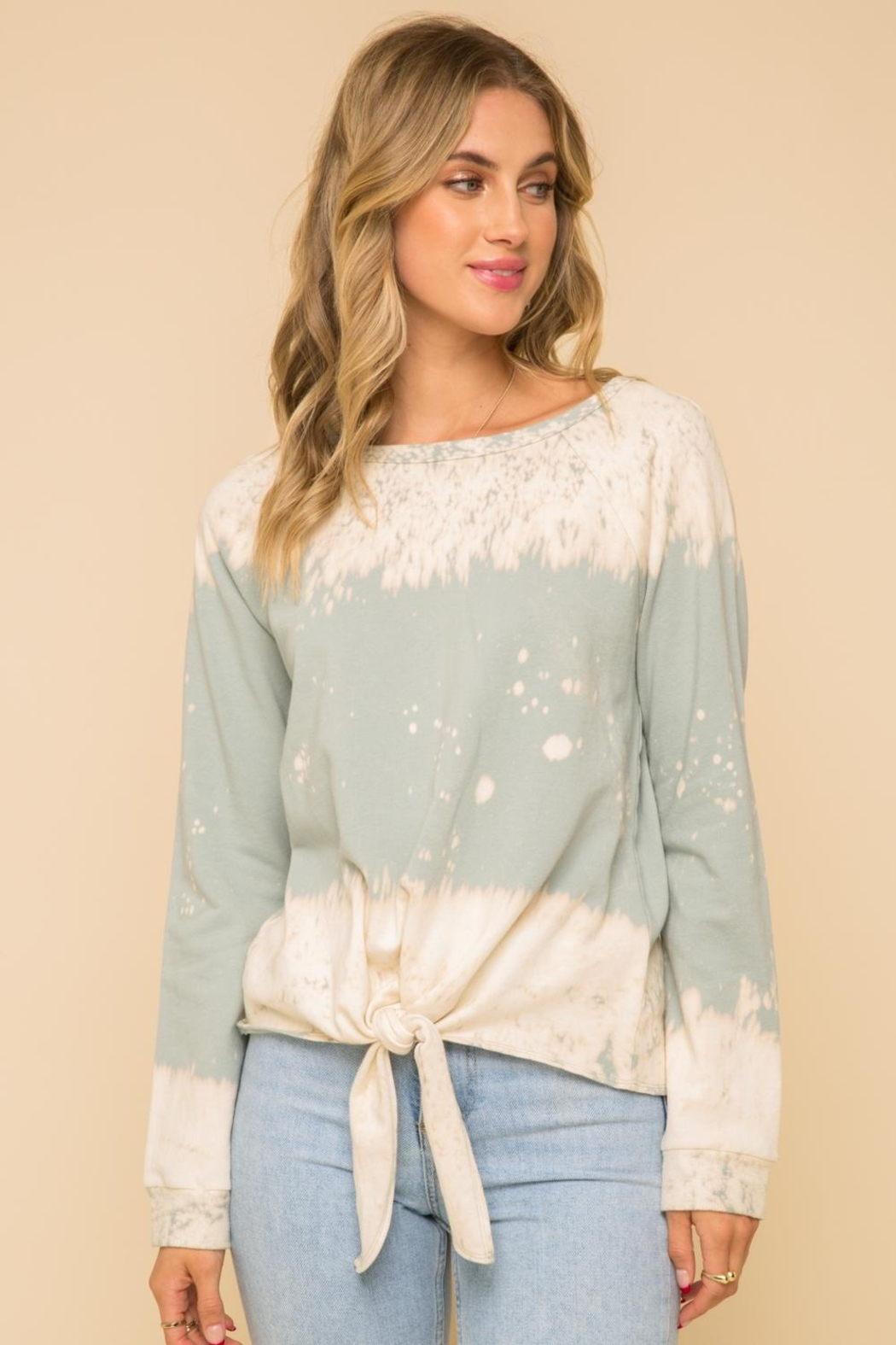 Hem & Thread Tie Front Top - Front Cropped Image