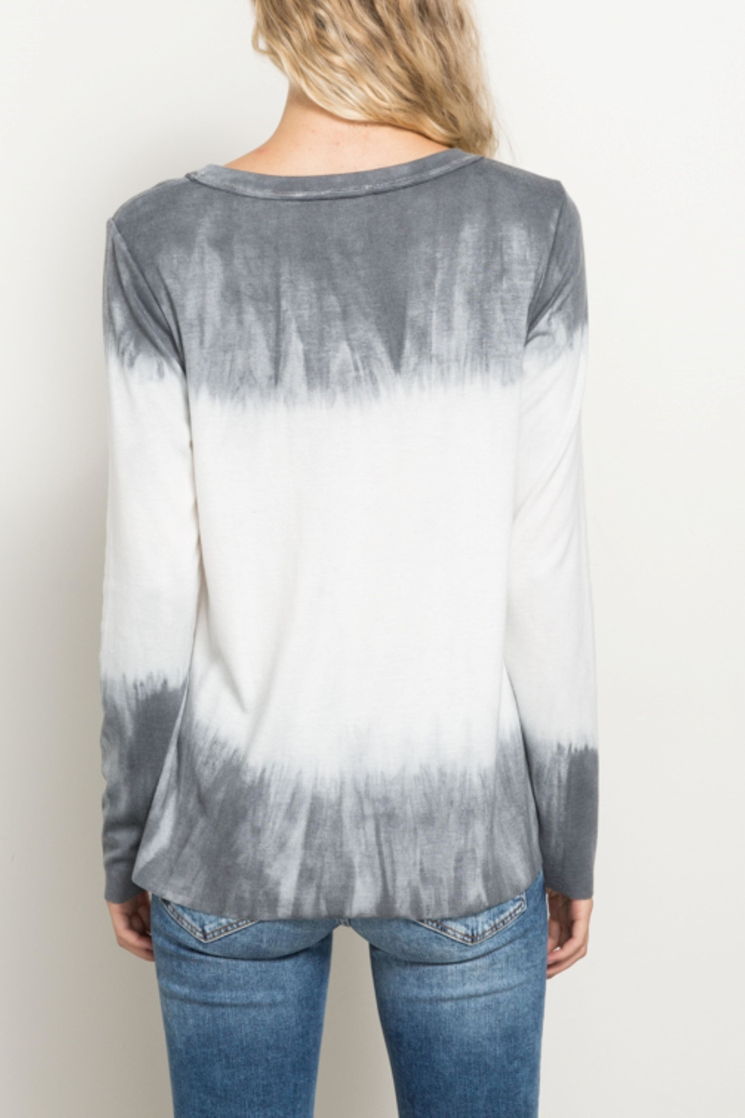 Hem & Thread Tiedye Ombre Top - Front Full Image