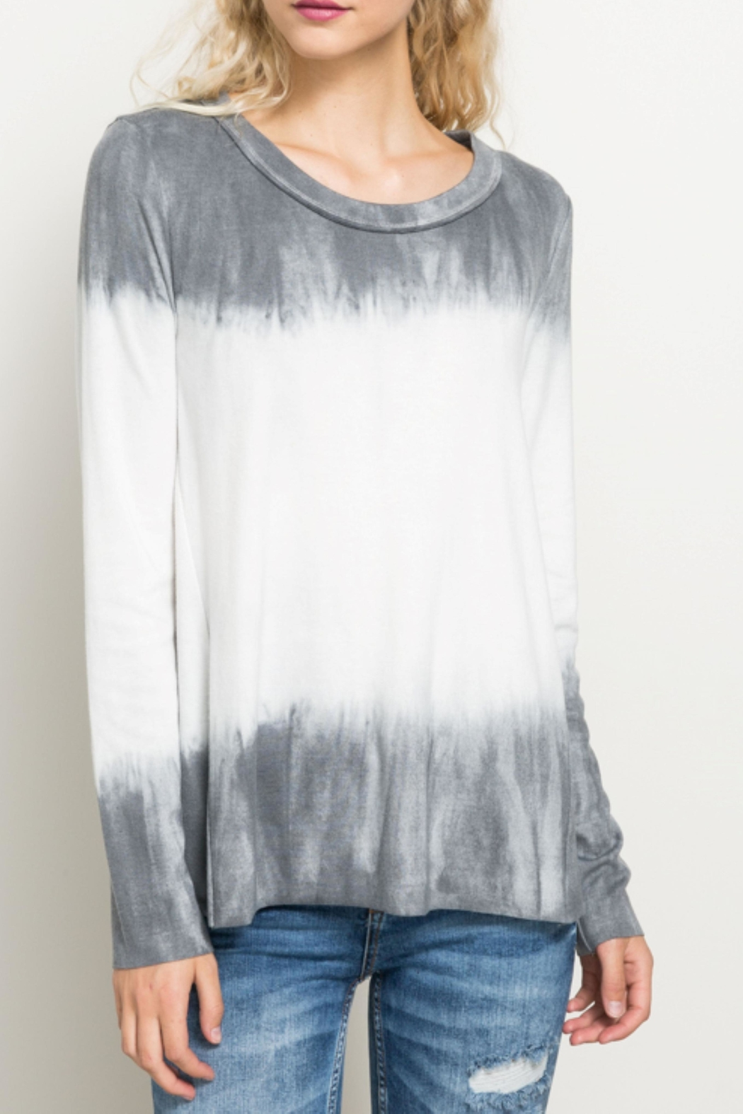 Hem & Thread Tiedye Ombre Top - Main Image