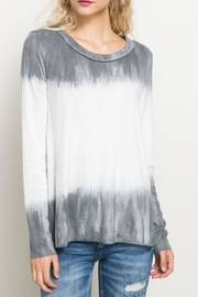 Hem & Thread Tiedye Ombre Top - Front cropped