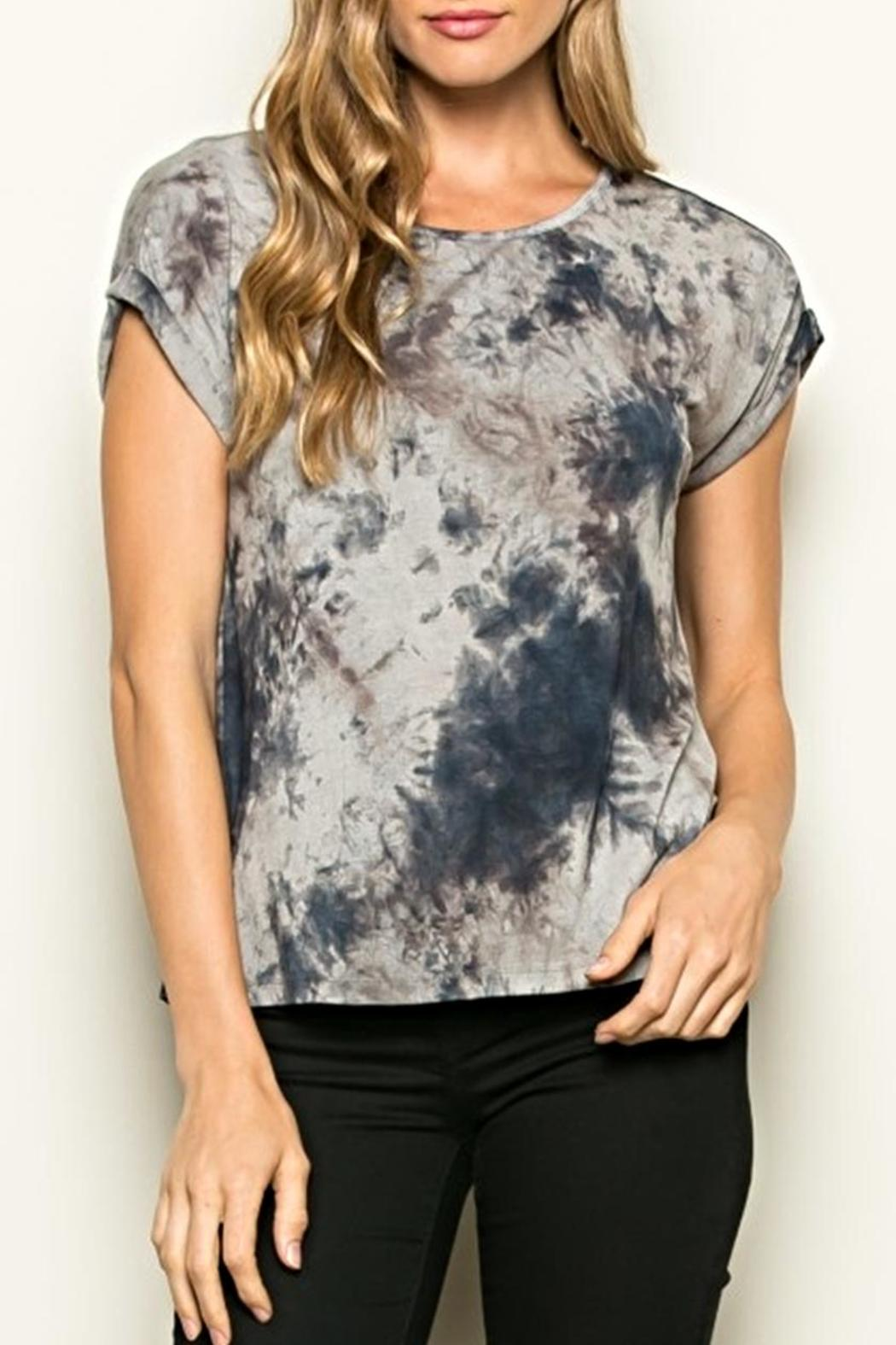 Hem & Thread Tiedye Tee Shirt - Front Cropped Image