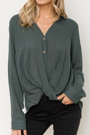 Hem & Thread Twist Hem Shirt - Product Mini Image