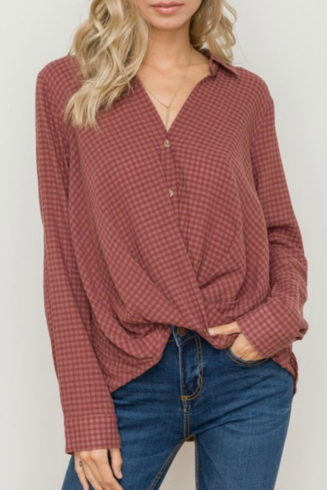 Hem & Thread Twisted Up Blouse - Front Full Image