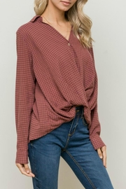 Hem & Thread Twisted Up Blouse - Back cropped