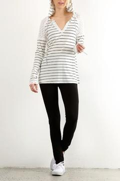 Shoptiques Product: V Neck Stripped Hoodie