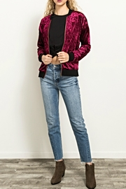 Hem & Thread Velvet Bomber Jacket - Product Mini Image
