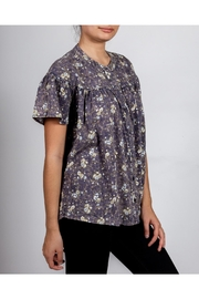 Hem & Thread Washed Floral Blouse - Front full body