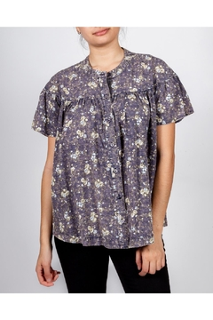 Hem & Thread Washed Floral Blouse - Product List Image
