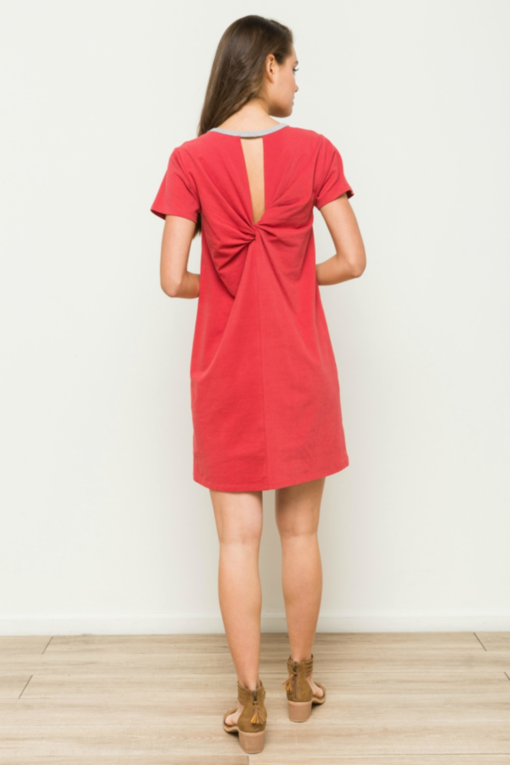 Hem & Thread Washed t-Shirt Dress - Main Image