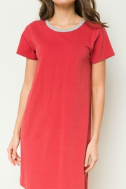 Hem & Thread Washed t-Shirt Dress - Front full body