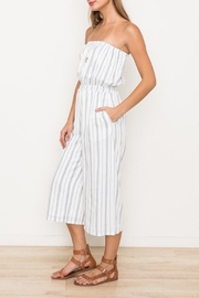 Hem & Thread White Striped Jumpsuit - Product Mini Image