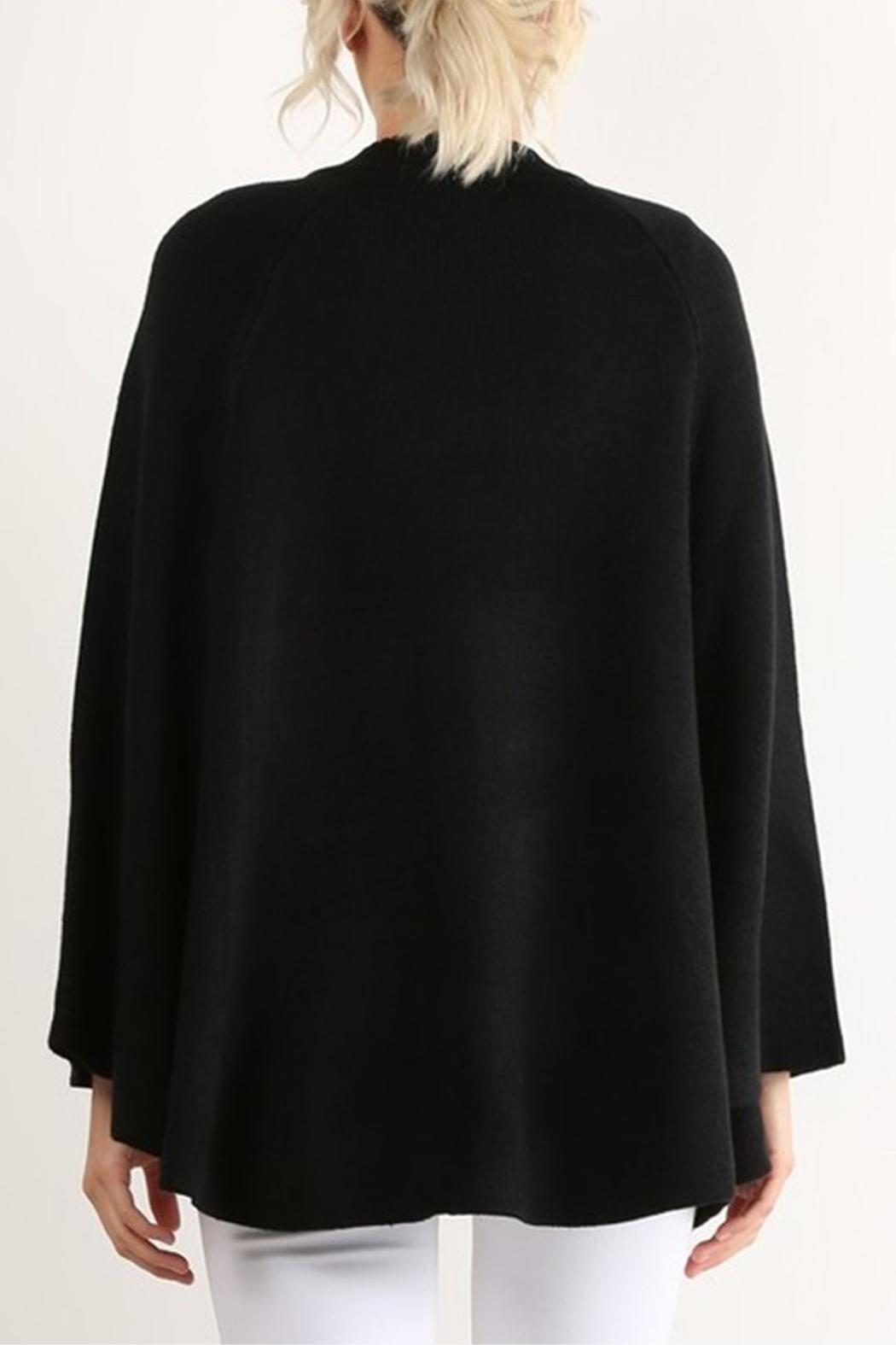 Hem & Thread Zip Sweater Cape - Side Cropped Image