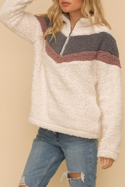 Hem & Thread Zip-Up Chevron Pullover - Product Mini Image