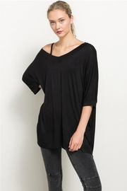 Hem and Thread Off The Shoulder High Low Hem Top - Product Mini Image