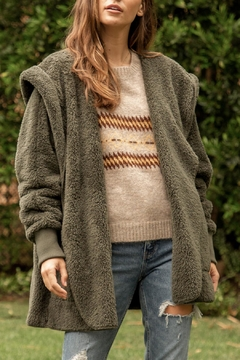 Hem and Thread Sherpa Hooded Jacket - Product List Image