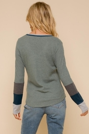 Hem and Thread Washed Out Thermal - Back cropped