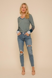 Hem and Thread Washed Out Thermal - Front cropped