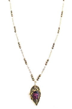 Shoptiques Product: Hematite Ladybug Necklace