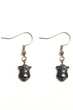 Shoptiques Product: Hematite Owl Earrings