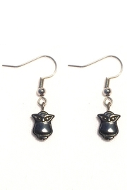 Love's Hangover Creations Hematite Owl Earrings - Product Mini Image
