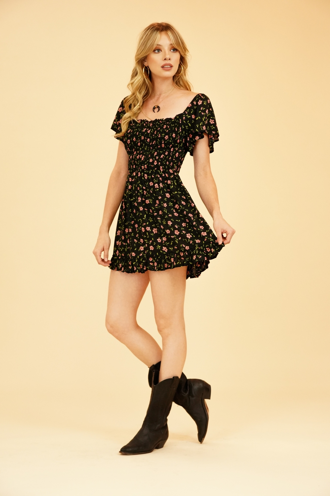 Tiare Hawaii Hendrix Mini Dress - Front Full Image