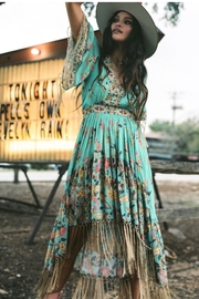 Spell & the Gypsy Collective Hendrix Tasseled Dress - Sky - Product Mini Image