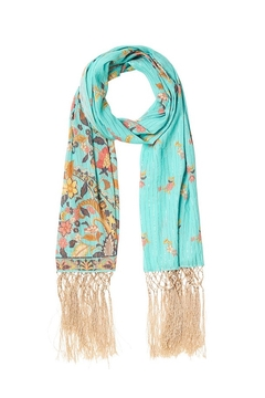 Spell and the Gypsy Hendrix Tasseled Scarf - Sky - Product List Image