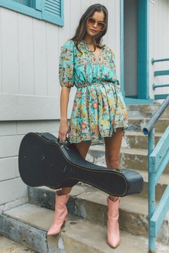 Spell and the Gypsy Hendrix Tunic Dress - Sky - Product List Image