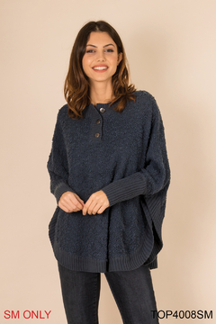 Simply Noelle Henley Button Sweater - Product List Image