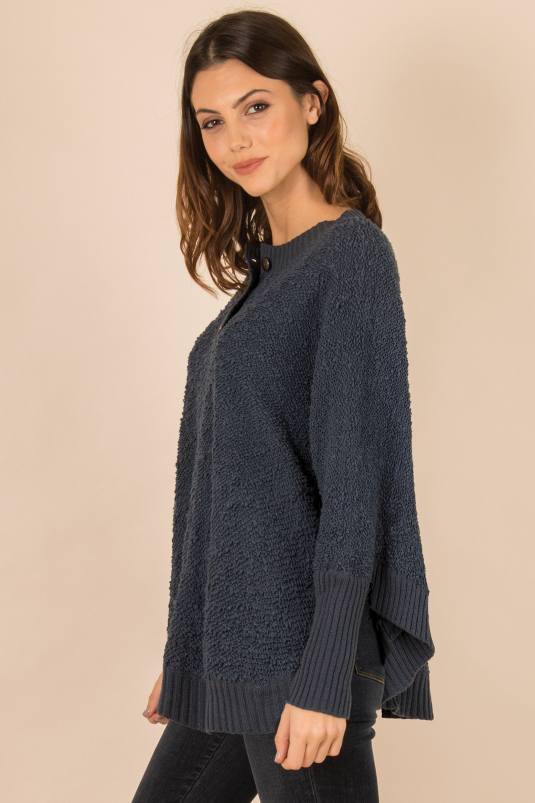 Simply Noelle Henley Button Sweater - Side Cropped Image
