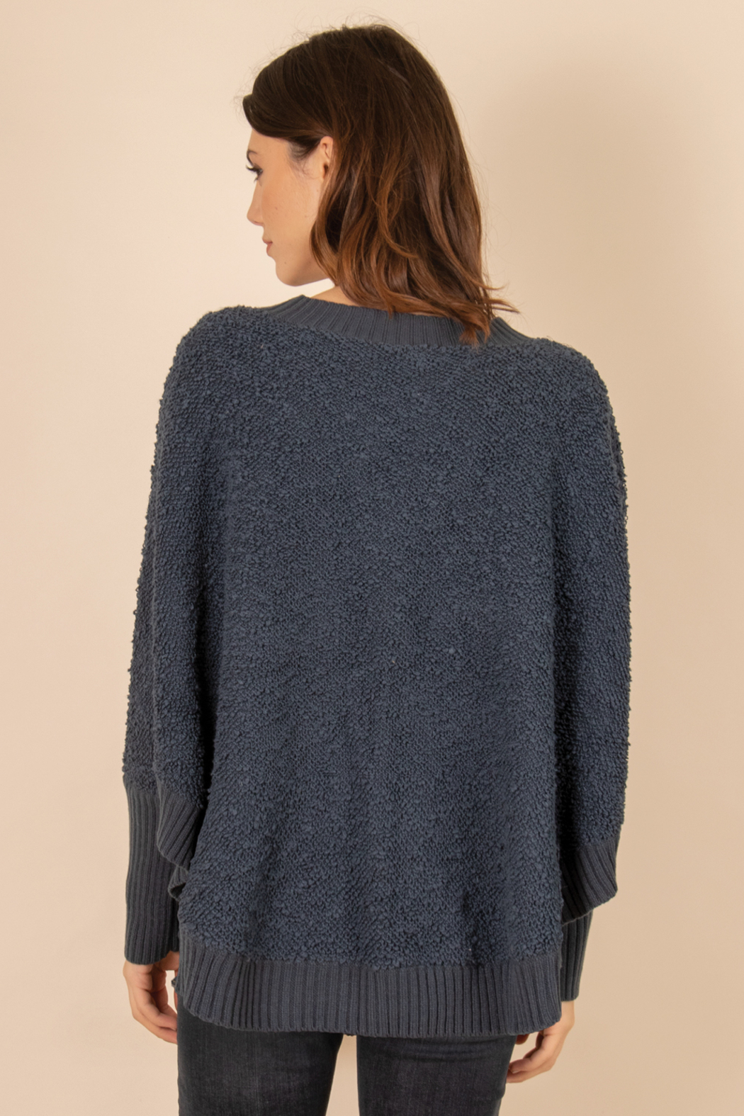 Simply Noelle Henley Button Sweater - Front Full Image