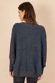 Simply Noelle Henley Button Sweater - Front full body