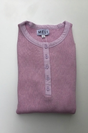 Meli by FAME HENLEY RIBBED SWEATER - Front cropped