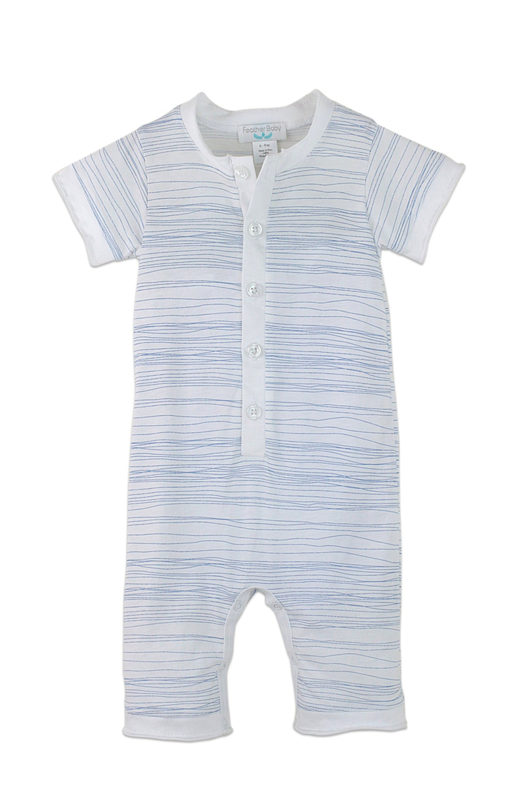 Feather Baby Henley Romper - Main Image