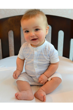 Feather Baby Henley Romper - Alternate List Image
