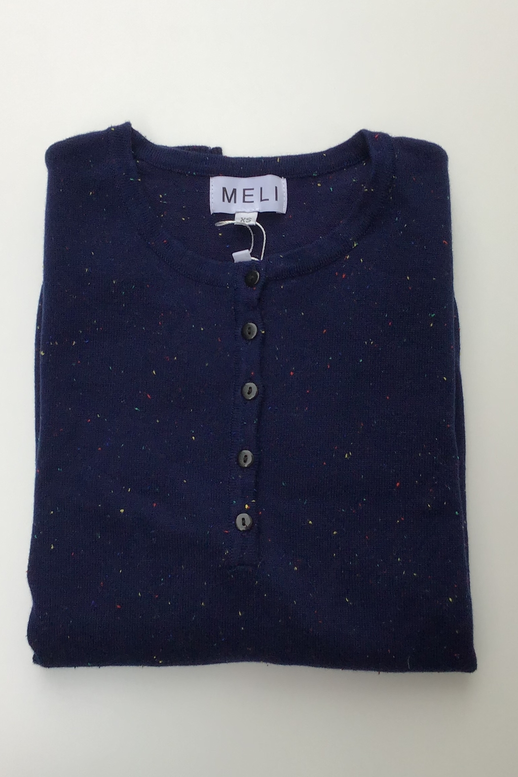 Meli by FAME HENLEY SPECKLED SWEATER - Front Cropped Image