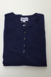 Meli by FAME HENLEY SPECKLED SWEATER - Front cropped