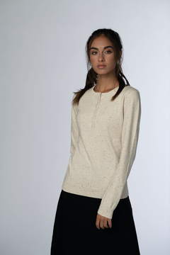 Shoptiques Product: HENLEY SPECKLED SWEATER