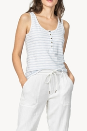 Lilla P Henley Tank Blue Stripe - Product Mini Image