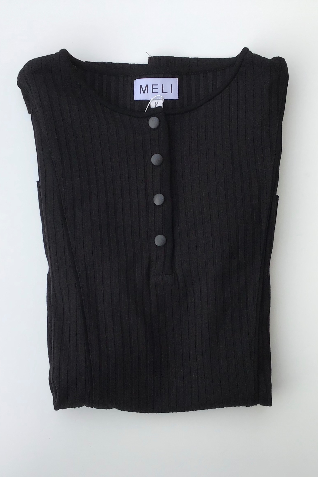Meli by FAME Henley Trim Top - Front Cropped Image