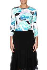 Henri Badoux Abstract Floral Top - Product Mini Image