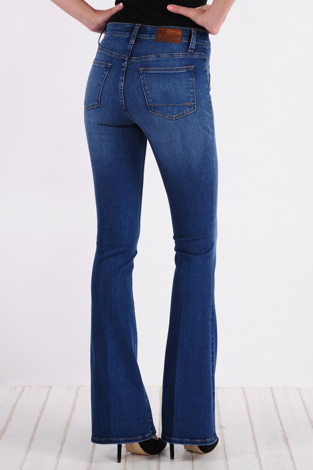 Henry & Belle High Waisted Flare Jeans - Front Full Image