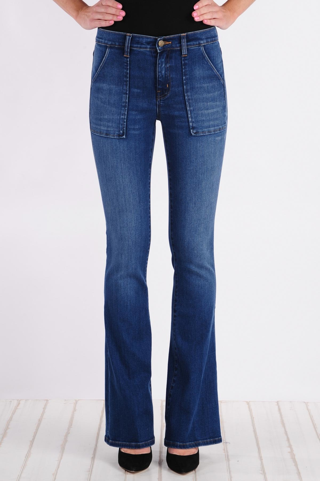 Henry & Belle High Waisted Flare Jeans - Main Image