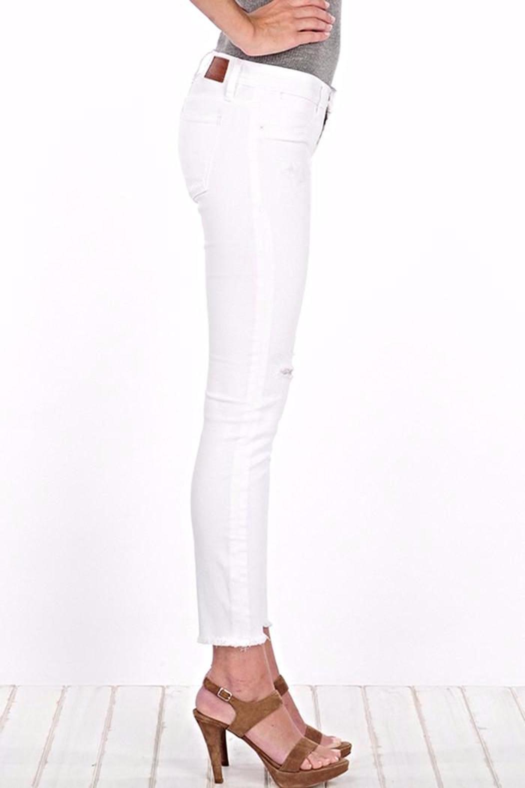 Henry & Belle Ankle Skinny White Jean - Side Cropped Image