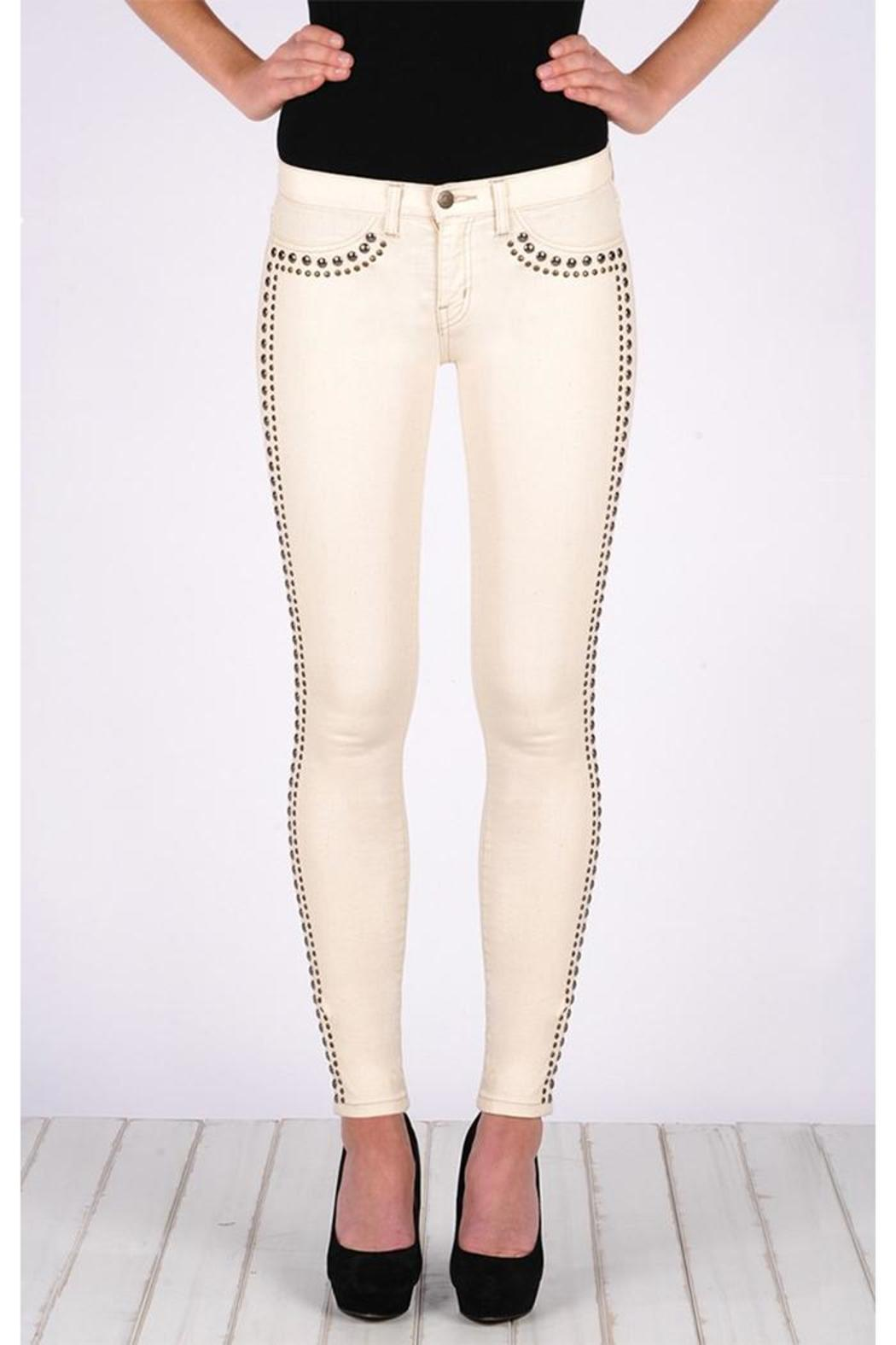 Henry & Belle Studded Jeans - Front Cropped Image
